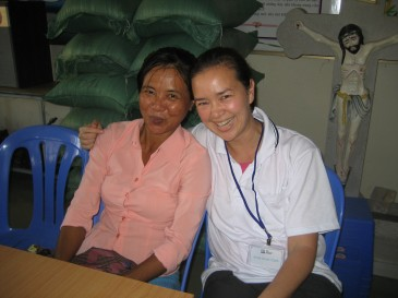 Annie and scholarship student mother in Bac Lieu, Vietnam